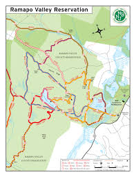 Garden State Plaza Map by Ramapo Valley Reservation Hiking Trail Conference