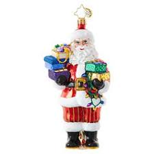 ornaments featuring santa claus christopher radko ornaments