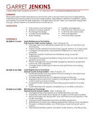Maintenance Resume Example by Facility Maintenance Supervisor Resume Examples Contegri Com