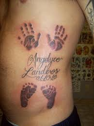 tattoo pictures baby footprints baby handprints and footprints tattoos on side rib