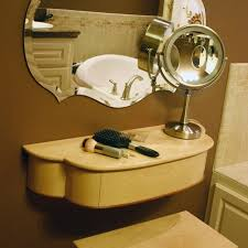 Makeup Vanity With Chair Handmade Petite Wall Mounted Women U0027s Makeup Vanity With Drawer