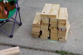building a giant outdoor jenga game simple suburban living