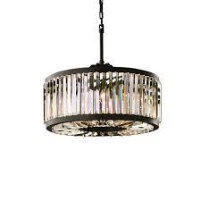 Cage Chandelier Lighting Restoration Revolution Welles 8 Light Clear Crystal Round