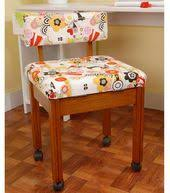 upcycled 1950 u0027s sewing chair by civilized sewing furniture