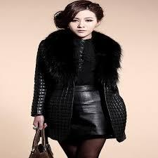 Warm Winter Coats For Women 2017 Women Clothing Fancy Coats Fur Collar Coat Synthetic Leather
