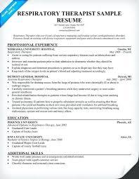 respiratory therapy resume free resume respiratory therapist