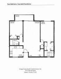 two bed two bath floor plans kings creek south condominiumtwo bedroom two bath residence