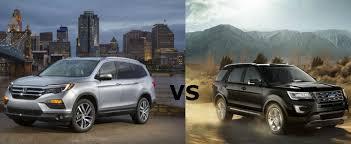 compare honda pilot and ford explorer 2016 honda pilot vs 2016 ford explorer