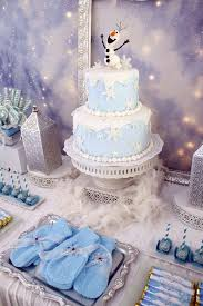 olaf and snowflake cake that was inspired by frozen 2014