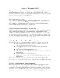 format for writing a letter of recommendation