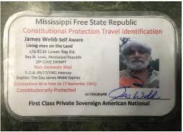 Mississippi travel documents images Sovereign citizen arrested despite assertions and proof that he png