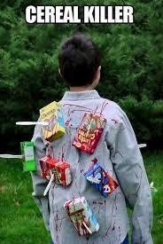 Funniest Halloween Costumes Cereal Killer Halloween Costume Diy Funny Clever Blood Cereal