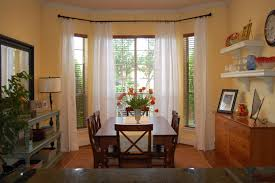 dining room simple window treatments for bay windows in dining