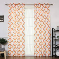 Sheer Curtains Orange Burnt Orange Sheer Curtains Wayfair