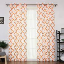 Sheer Orange Curtains Burnt Orange Sheer Curtains Wayfair