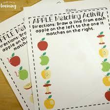 preschool worksheets apple preschool matching worksheets look