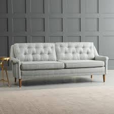 Grey Button Sofa Gray Button Tufted Sofa