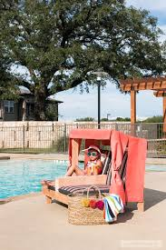 kids outdoor double lounge chair cabana free and woodworking