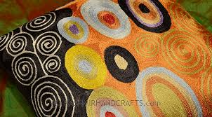 Orange Pillows For Sofa by Klimt Orange Black Swirls Decorative Pillow Cover Silk Hand