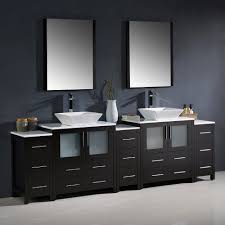 bathroom vanity with side cabinet fresca fvn62 96es vsl torino 96 espresso modern double sink