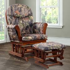 artiva usa home deluxe camouflage fabric cushion glider chair and