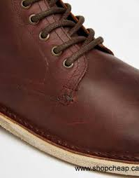 2016 boots men asos lace up boots in brown leather brown