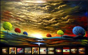 landscape painting artists 25 colorful landscape paintings by artist matthew hamblen