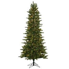 shop vickerman 7 5 ft pre lit slim artificial tree with