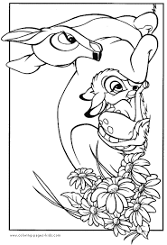 bambi coloring pages printable disney coloring pages