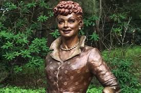 the war of the lucille ball statues