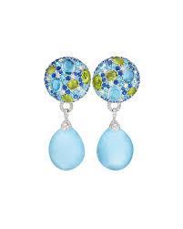 aquamarine drop earrings margot mckinney jewelry carnivale aquamarine drop earrings