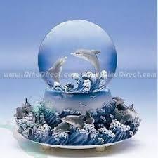 homadorns dolphin decorative figures snow globe