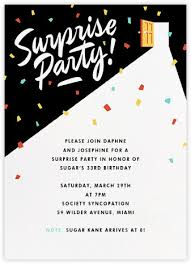 surprise party invitations online at paperless post