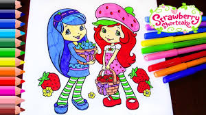 strawberry shortcake coloring pages for children strawberry