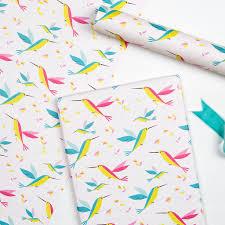 bird wrapping paper hummingbird wrapping paper 5 sheets rex london dotcomgiftshop