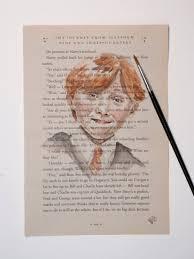 original watercolor harry potter book ron weasley