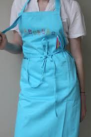 tablier de cuisine pour enfants tablier cuisine bleu turquoise ribambelle enfants multicolores