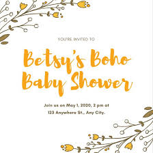 baby shower baby shower invitation templates canva