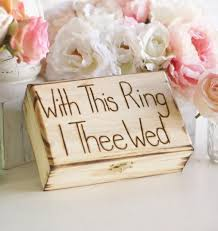 with this ring i thee wed rustic ring bearer pillow engraved box with this ring i thee wed