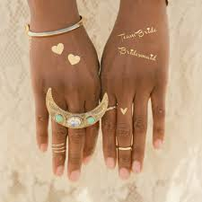 create your own wedding flash tattoo gold ink tattoo