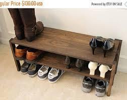 shoe rack entryway shoe rack etsy
