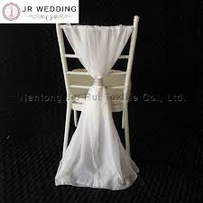 wedding chair sashes 100pcs free shipping white voile chair sashes with buckle for
