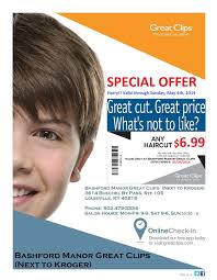6 99 haircut u0026 blowdry great clips at bashford manor shops on