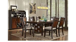 7 pc dining room set bedford heights cherry 7 pc dining room rectangle transitional