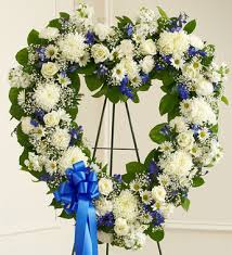 wreath shaped funeral flowers memorial flowers