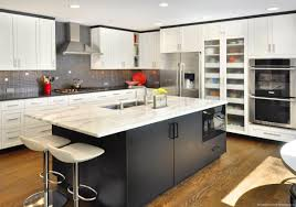 Brick Tile Backsplash Kitchen Kitchen Countertop Ideas On A Budget Black White Tile Backsplash