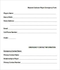 Emergency Contact Form Template emergency contact form 11 free word pdf documents downlaod