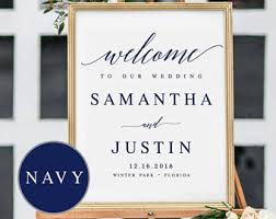 welcome to our wedding sign template welcome wedding template