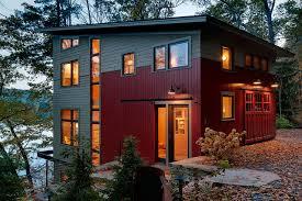 lake house contemporary exterior burlington by creative