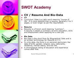 resume writing and soft skills 1 resume writing swot academy